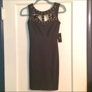 Charlotte Russe Dresses & Skirts - Black studded black mini dress