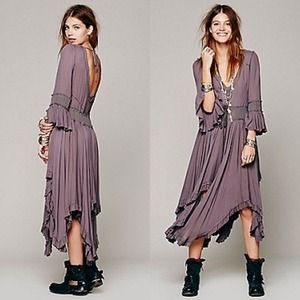 Free People Gypsy Boho Maxi Dress Small