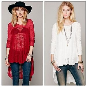 Free People Black Magic Pullover Strawberry S