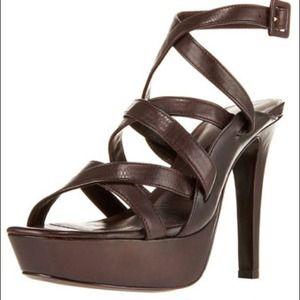 Diane Von Furstenberg Zima Ankle-Wrap Sandal 10 NT