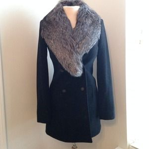 DVF MOLET WITH FUR COAT NWT
