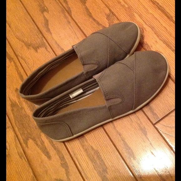 h m h m khaki slip on canvas shoes from phyl s