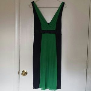 Black and Green Cocktail Dress.