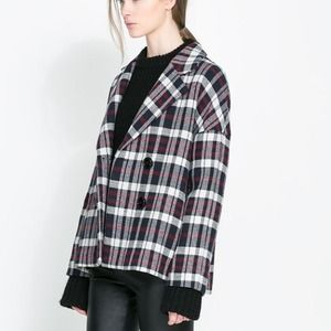 Zara oversized checkered coat