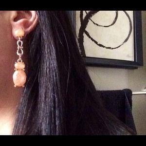 Peach & Gold JewelMint earrings! New in box!