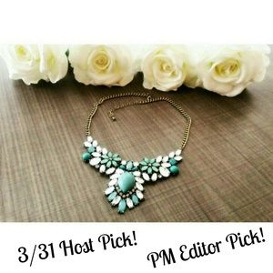  PM EDITOR PICK! Mint blue statement necklace