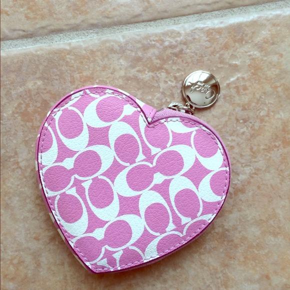 coach men outlet online sh24  coach heart shaped coin purse coach heart shaped coin purse