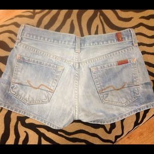 Seven 7 For All Mankind Denim Jean Shorts 26