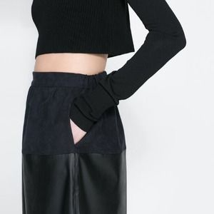 Zara Dresses & Skirts - Zara Faux leather skirt