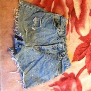 Denim - High waisted shorts