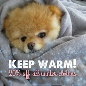 20% all winter clothes
