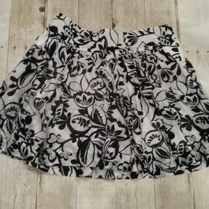 Express Flowy Flower Mini Skirt