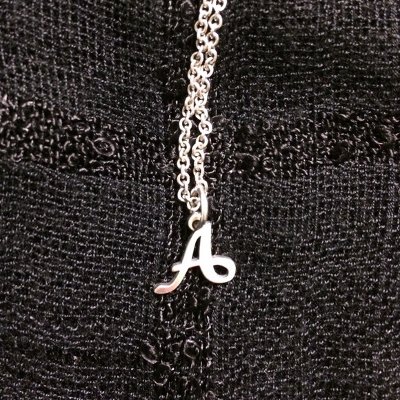 James Avery Initial A Charm Necklace With Chain