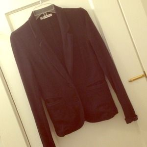 T by Alexander Wang Black Knit Blazer