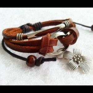 Rawhide 3 strap bracelet. Last one