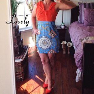 Boutique Beautiful Bright Print Dress