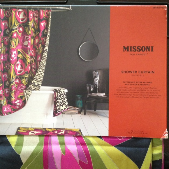 Missoni Accessories   Missoni Passione FloraL Reversible Shower Curtain