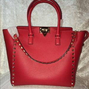 ysl bag on sale - Valentino - Valentino Rockstud Vitello Double handle tote bag from ...