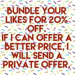 ❤️Bundles your Likes for 20% off