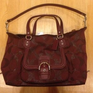 Coach Bags - Authentic Beautiful red wine/maroon Coach bag ❤️