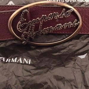 Emporio Armani Authentic Brown Leather Belt