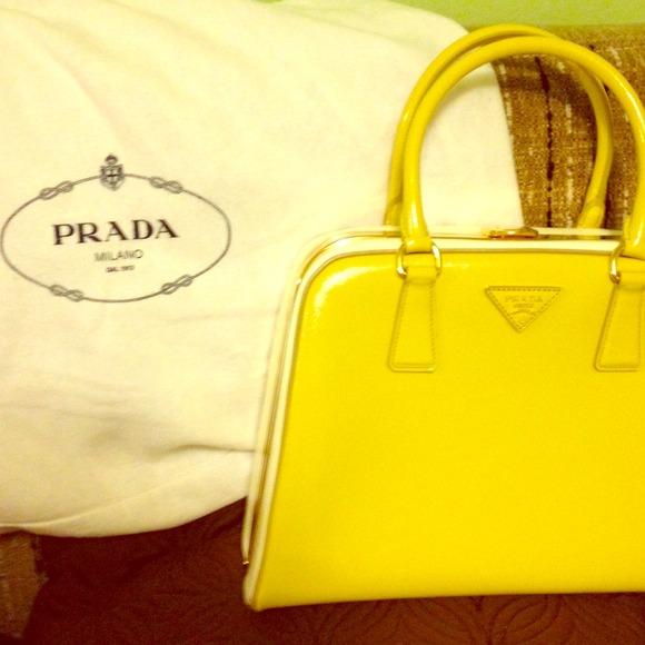 75cf32e917cb62 ... get brand new canary yellow prada handbag c6a03 54093