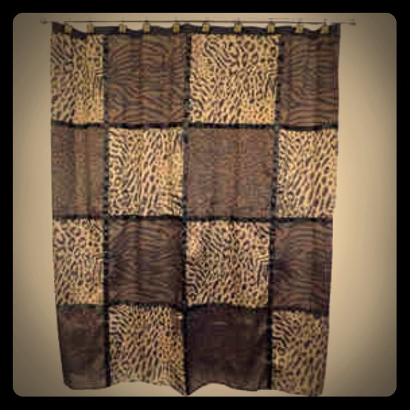 40 off other animal print shower curtain from nina 39 s