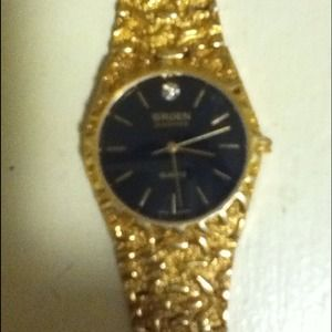 71 Off Gruen Jewelry Vintage Gruen Diamond 18 K Gold