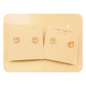Kate Spade Open Spade Stud Earrings Set