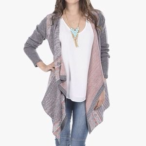 NEW Tribal Print Open Draped Cardigan