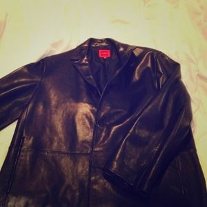 Men's Cole Haan Timeless black leather blazer