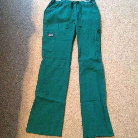 71% off Cherokee Pants - XXS Hunter Green Cargo Scrub Pants from ...