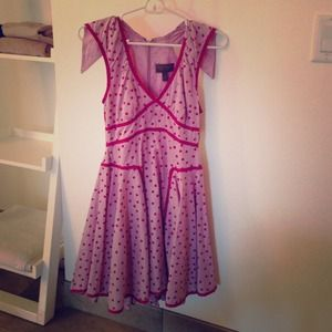 Size 3 pink polka dot Zac Posen for target dress