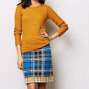 Anthropologie Jenna Plaid Pencil Skirt