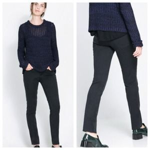 Zara dark wash jeans in black