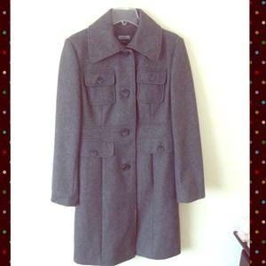 ⬇️Cool Gray Wool Trench Coat