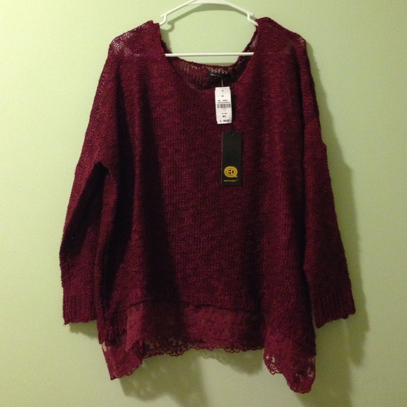 LF - Trade for @janaylorrainne LF Burgundy Lace Sweater from ...