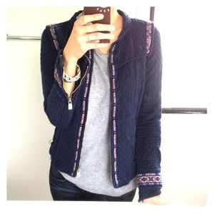 Zara Jackets & Blazers - Zara navy tribal jacket!