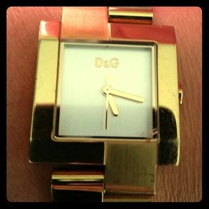 SALE! Dolce & Gabbana Watch Gold Tone - D&G