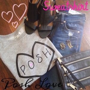 Tops - Posh Love 💕 Sweatshirt