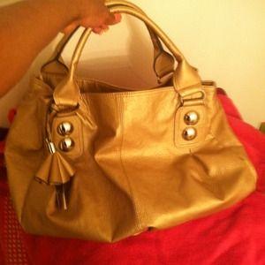 Mondani.. New York  Bags - Mondani New York metallic Gold bag