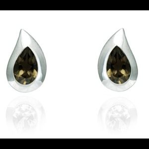 Jewelry - Sterling & Smokey Quartz Earrings