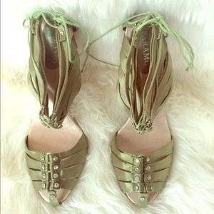 Olive Green Strappy sandals