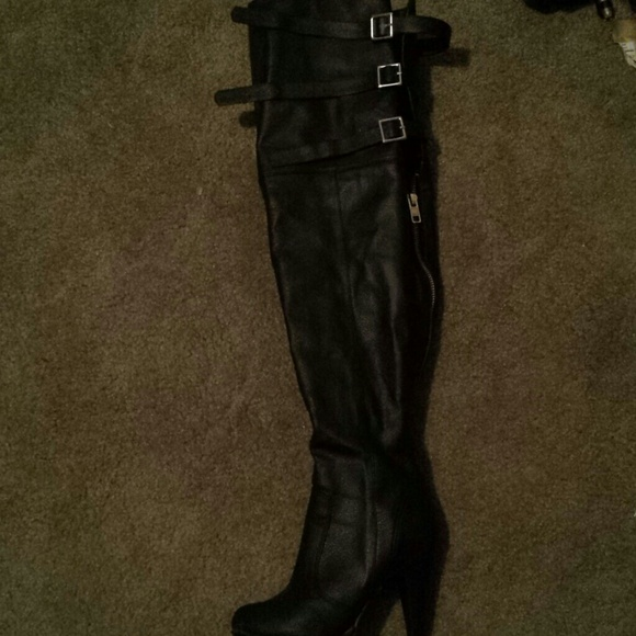 83 torrid shoes thigh high black boots from bre s