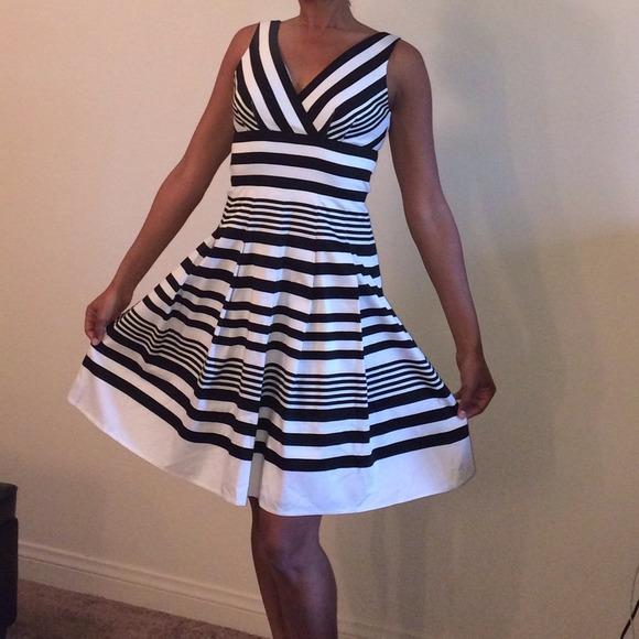 88% off White House Black Market Dresses & Skirts - STRIPED COTTON ...