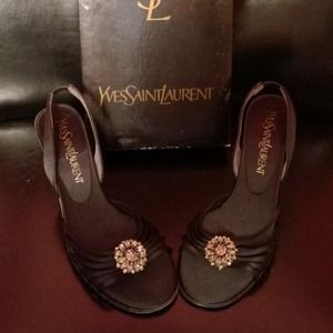Yves Saint Laurent Shoes - Beautiful Yves Saint Laurent Jeweled Heels- New