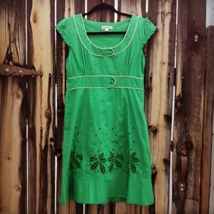 Green Eyelet Dress 🌀HP🌀