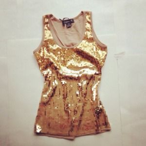 Ombre Gold Sequin Top