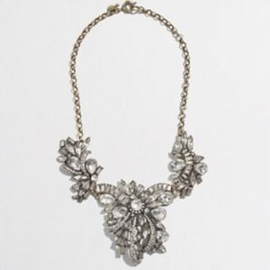 J.CREW CRYSTAL CORSAGE NECKLACE.