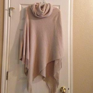 Sweaters - Wallis fringe cream poncho. NWOT